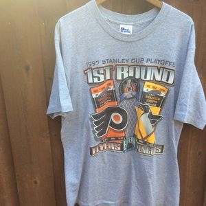 Vintage 1997 Stanley cup playoffs penguins flyers